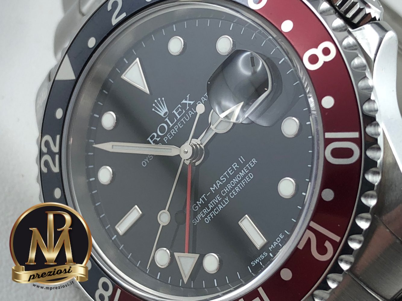 Rolex-gmt-master-2-stick-dial-3186-mp-preziosi